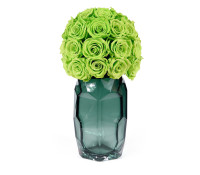 Green Glow In Contemporary Vase