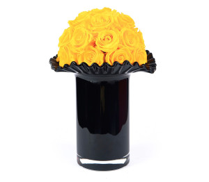 Sunny Yellow In Raffle Vase